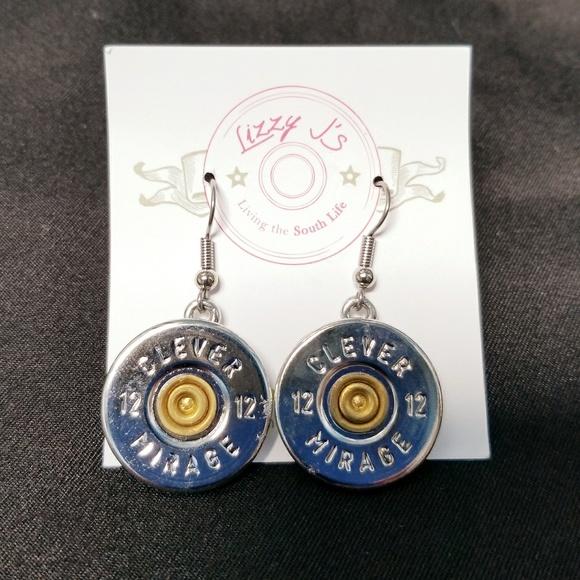 12 Gauge Shotgun Bullet Shell Dangle Earrings Boutique